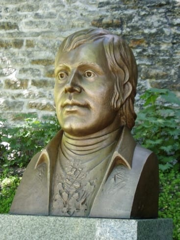 Śoti luuletaja ROBERT BURNS´i büst 2005 pronks, graniit - Tallinn, Eesti  <br/>The byst of Scotish poet ROBERT BURNS 2005 bronze, granit - Tallinn, Estonia
